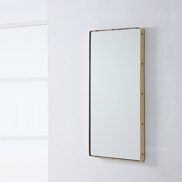 "80"" x 80"" x 4"" Clear Steel Glass Mirror"