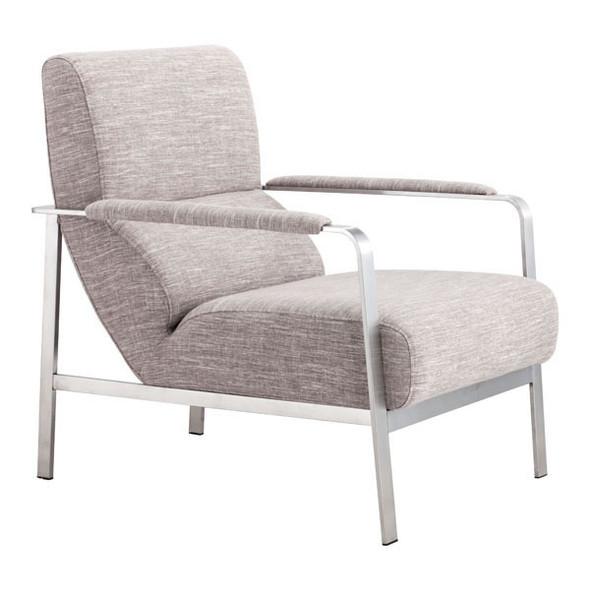 "26"" X 31.5"" X 33.5"" Wheat Polyblend Arm Chair"