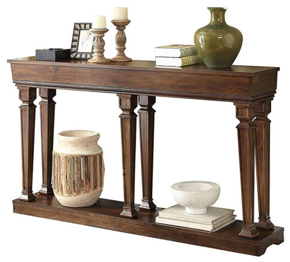 "72"" X 12"" X 35"" Oak Wood Console Table"