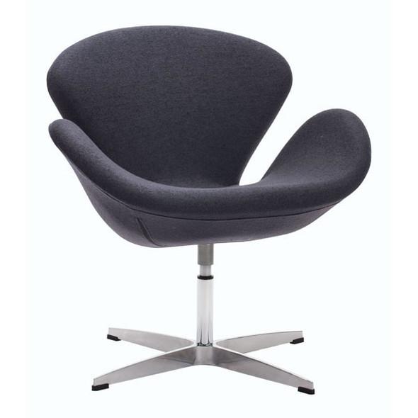 "28"" X 26.8"" X 30"" Gray Iron Arm Chair"