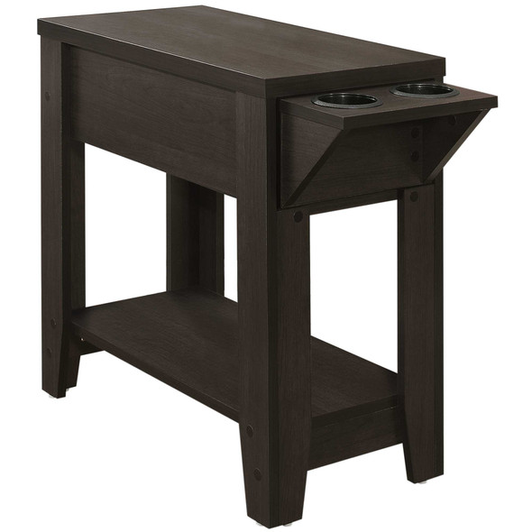 """28'.75"""" x 12"""" x 22'.5"""" Cappuccino, Particle Board - Accent Table"""