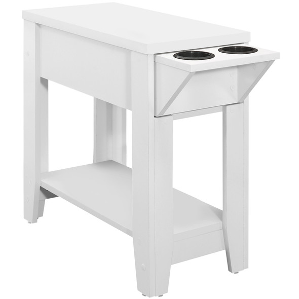 """24"""" x 11'.5"""" x 24"""" White, Particle Board, Hollow-Core - Accent Table"""