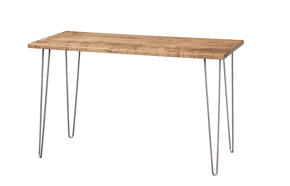 """48"""" X 18"""" X 30"""" Natural Maple And Steel Sofa Table - 373956"""