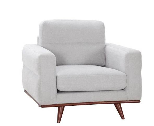 """40"""" X 34"""" X 36"""" Light Taupe Polyester Chair"""