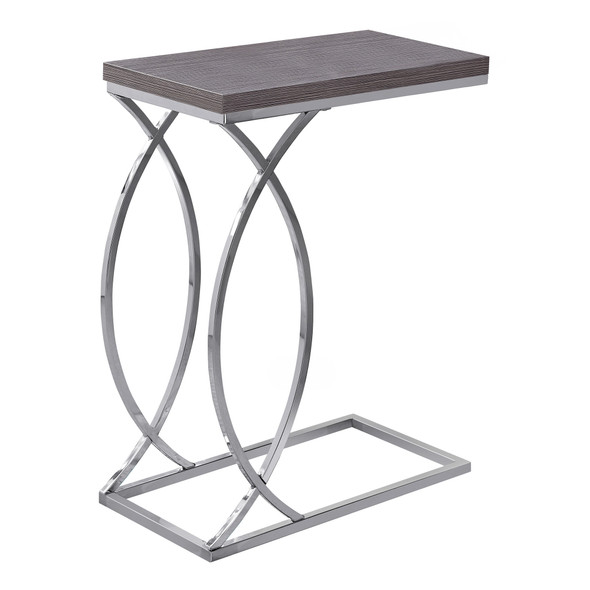 """18'.25"""" x 10'.25"""" x 25"""" Grey, Mdf, Laminate, Metal - Accent Table"""
