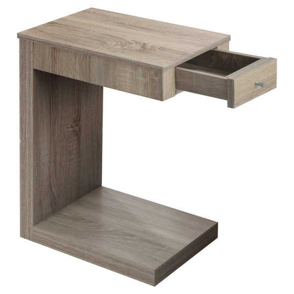 """18'.25"""" x 12"""" x 24"""" Dark Taupe, Particle Board, Hollow-Core - Accent Table"""