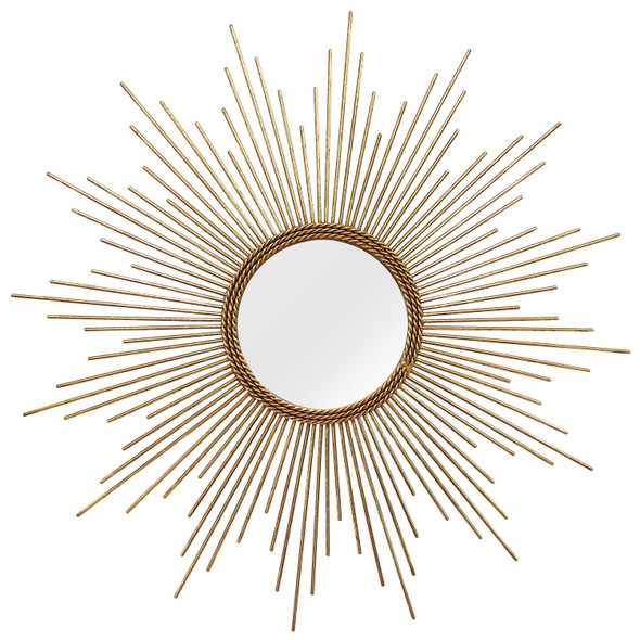 "26"" X 1.25"" X 26"" Gold Simple Yet Striking Wall Mirror"
