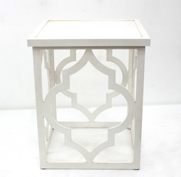 """19"""" x 19"""" x 23.5"""" White/Ivory, Square - End Table"""