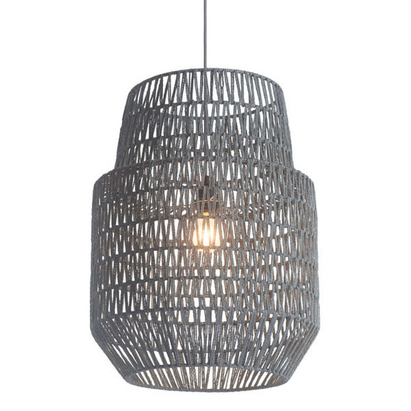 """17.7"""" X 17.7"""" X 23.6"""" Synthetic Woven Metal Daydream Ceiling Lamp"""