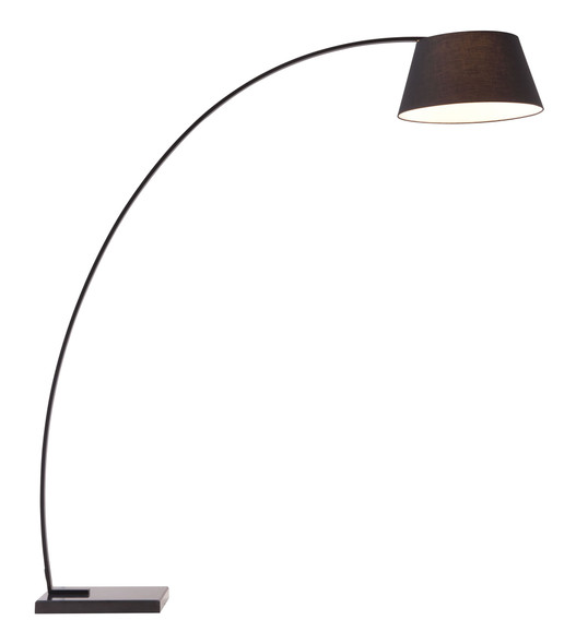 "66.9"" x 19.7"" x 74.8"" Black, Fabric, Metal amp; Marble, Floor Lamp"