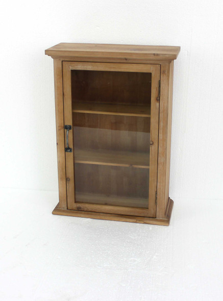 """8"""" x 21"""" x 28"""" Natural, Single Door, Rustic, Wall Mounted, Wooden - Cabinet"""