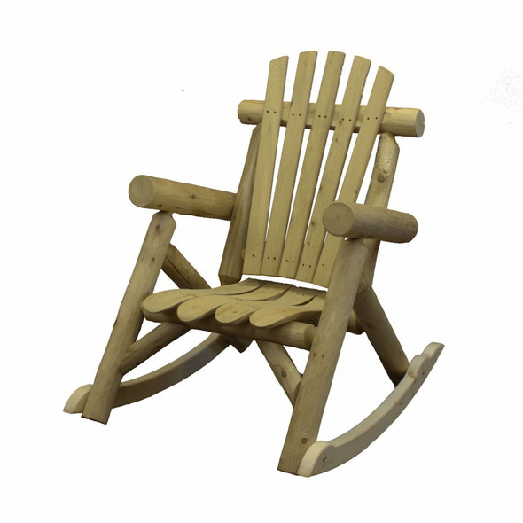 "31"" X 42"" X 41"" Natural Wood Rocking Chair"