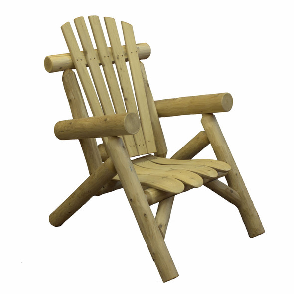 "28"" X 30"" X 39"" Natural Wood Lounge Chair"
