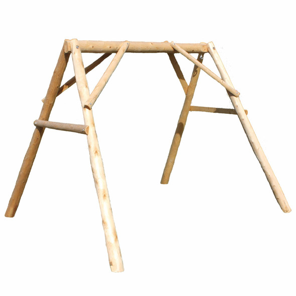 "87"" X 70"" X 65"" Natural Wood Double Swing A-Frame"