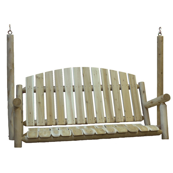 "71"" X 23"" X 47"" Natural Wood Porch Swing"