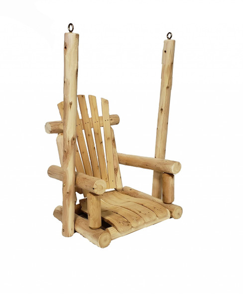 "31"" X 24"" X 47"" Natural Wood Single Chair Porch Swing"