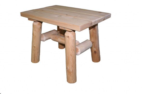"23"" X 17"" X 18"" Natural Wood End Table"