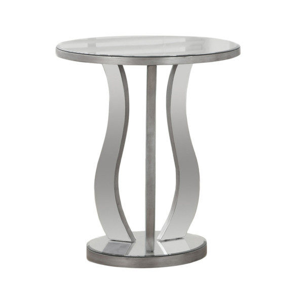 """20"""" x 20"""" x 24"""" Silver - End Table with a Mirror Top"""