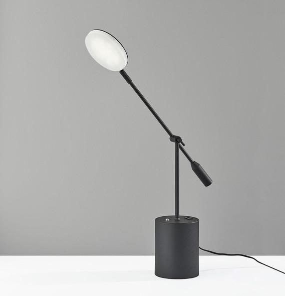 "28"" X 6"" X 45.5-64"" Black Metal LED Floor Lamp"