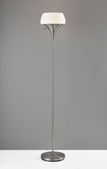 """12"""" X 12"""" X 69.5"""" Brushed steel Metal Torchiere"""