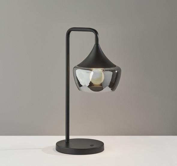 "8"" X 11.5"" X 20.25"" Black Metal Table Lamp"