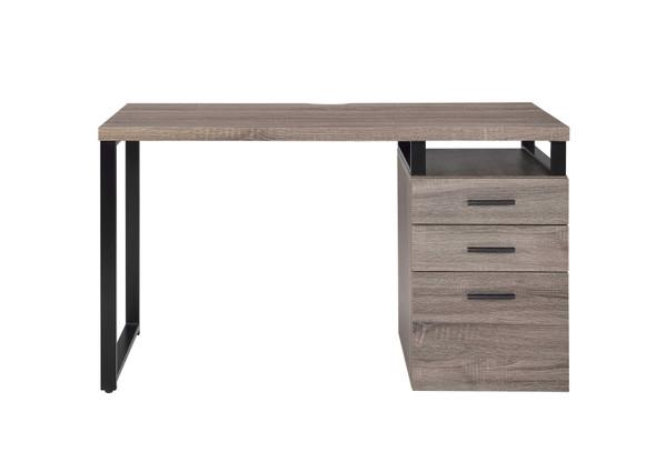 """47"""" X 22"""" X 28"""" Gray Oak Pvc Desk"""