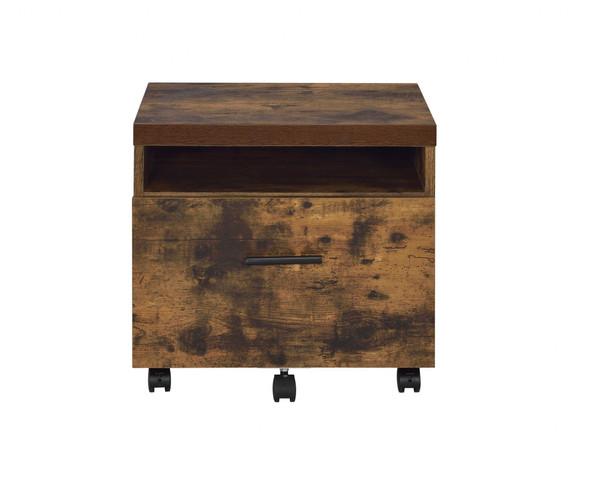 "18'.89"" X 15'.74"" X 25'.23"" Weathered Oak File Cabinet"