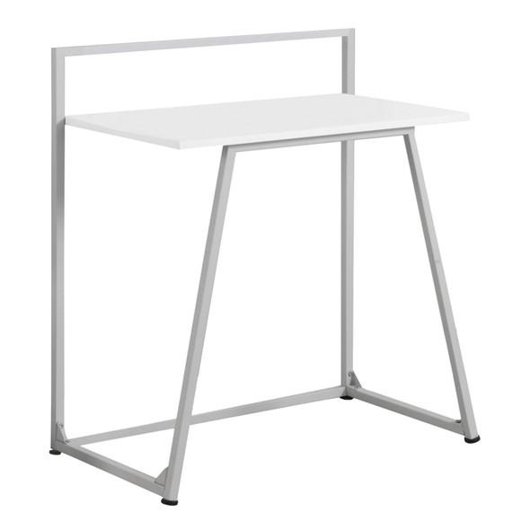 "17'.75"" x 29'.5"" x 34"" White, Mdf, Metal - Computer Desk"