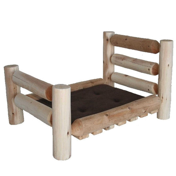 "34"" X 48"" X 20"" Natural Wood Large Pet Bed"