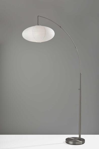 "20"" X 42"" X 80"" Brushed Steel Metal Arc Lamp"