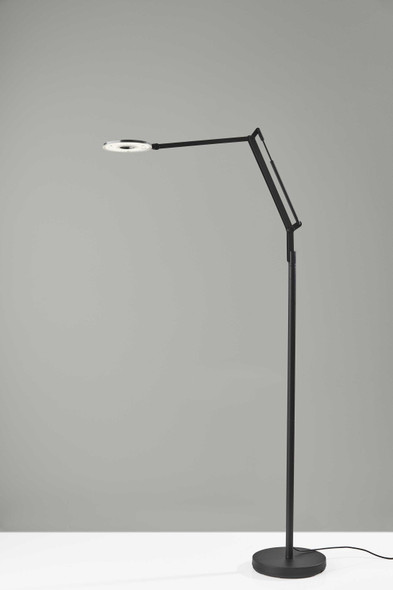 "10"" X 36.5"" X 66.5"" Black Metal LED Floor Lamp"