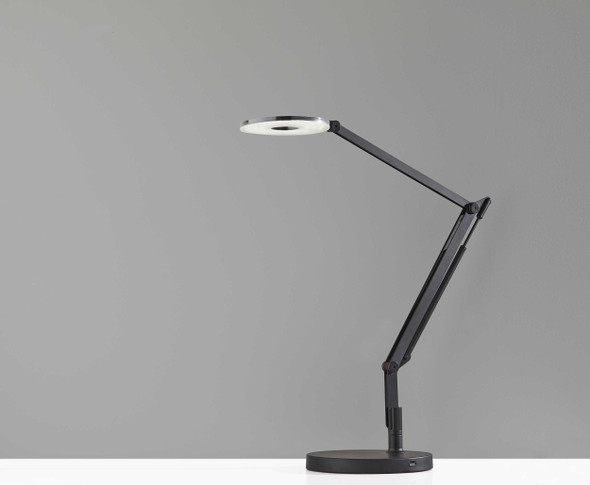 "8.5"" X 32"" X 32.5"" Black Metal LED Desk Lamp"