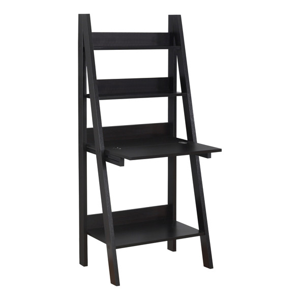 "19"" x 25'.5"" x 61"" Cappuccino/Ladder Style - Computer Desk"