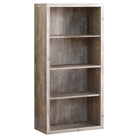 """11'.75"""" x 23'.75"""" x 47'.5"""" Taupe, Particle Board, Adjustable Shelves - Bookshelf"""