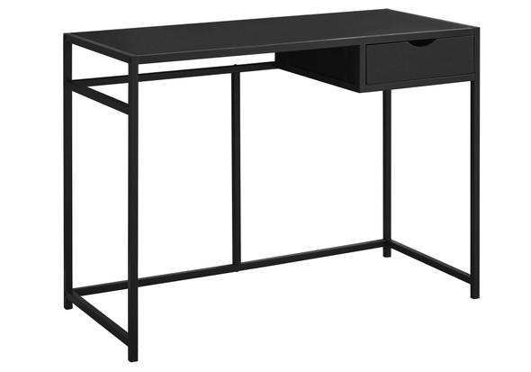 "20"" x 42'.25"" x 30"" Black, Mdf, Metal - Computer Desk"