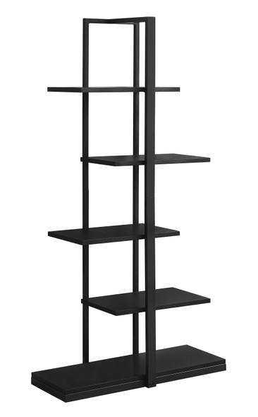 """13"""" x 32"""" x 60"""" Black, Mdf, Metal - Bookshelf"""