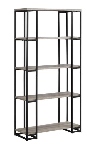 "12'.5"" x 32"" x 62"" Dark Taupe, Black, Mdf, Metal - Bookcase"