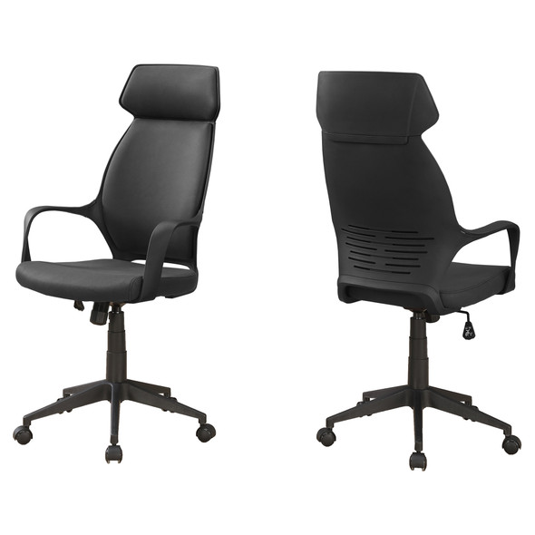 "26"" x 25"" x 96"" Black, Foam, Polypropylene, Microfiber - High Back Office Chair"