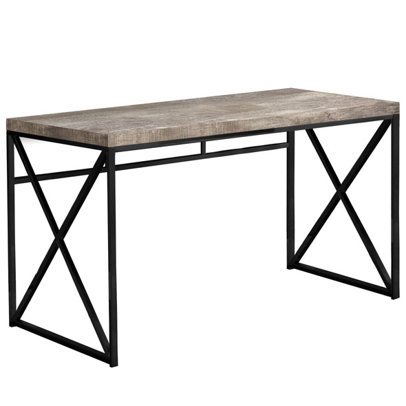 """23'.75"""" x 47'.25"""" x 29'.75"""" Taupe, Black, Particle Board, Metal - Computer Desk"""