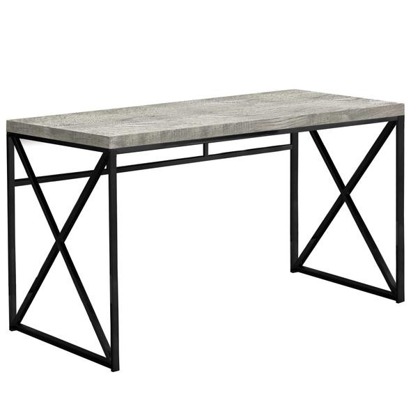 """23'.75"""" x 47'.25"""" x 29'.75"""" Grey, Black, Particle Board, Metal - Computer Desk"""
