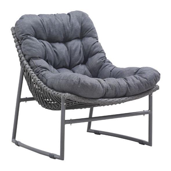 """28.7"""" X 30.7"""" X 31"""" Gray Polyethylene Beach Chair"""