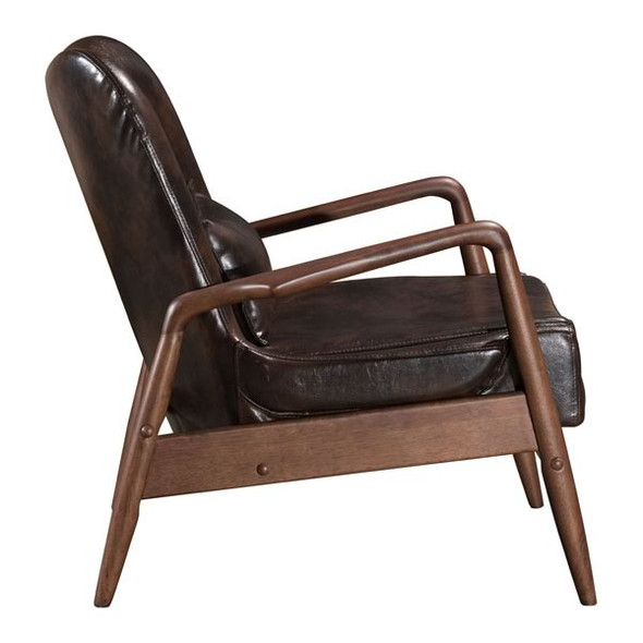"30.3"" X 33.5"" X 32.7"" Brown Bully Lounge Chair And Ottoman"
