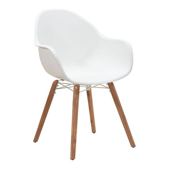 "22.8"" X 24"" X 34"" 4 Pcs White Polypropylene Dining Chair"