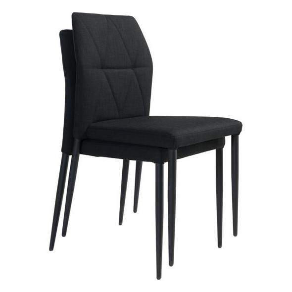"""17.7"""" X 21.7"""" X 33.5"""" Black Poly Dining Chair"""