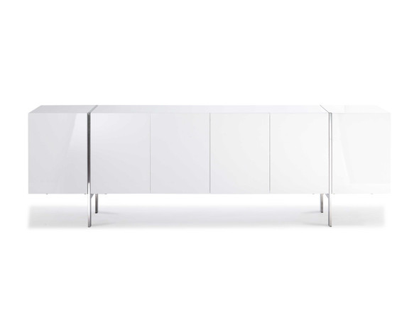 """95"""" X 17"""" X 30"""" White Stainless Steel Buffet"""