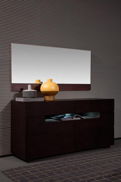 """24"""" Brown Oak Veneer and Glass Mirror"""