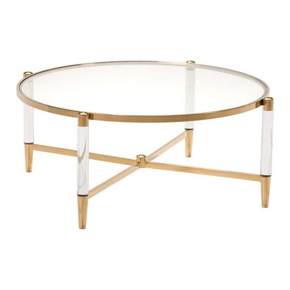 """39.4"""" X 39.4"""" X 17.7"""" Mirrored Circular Coffee Table"""