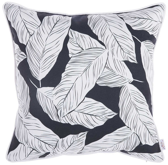 "18""x 18"" Tropical Plant Printed Decorative Throw Pillow Cover"