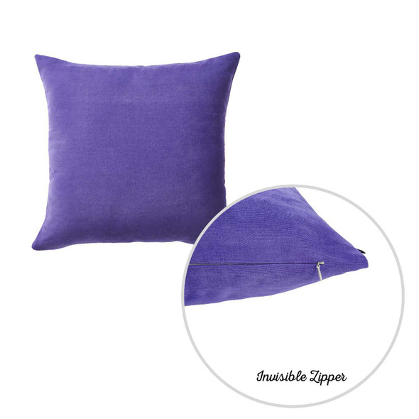 "20""x20"" Lilac Honey Decorative Throw Pillow Cover 2 pcs in set"