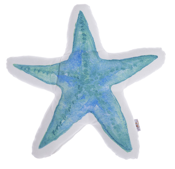 "16""x 16"" Marine Star Shaped Printed Decorative Throw Pillow Cover Home Decor"